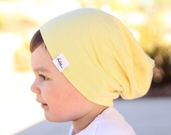 Yellow beanie/ baby boy clothes/ slouchy beanie/ kids hat/ hipster beanie/ boy hat/ girl hat/ kids easter/ toddler hat/ baby girl clothes/