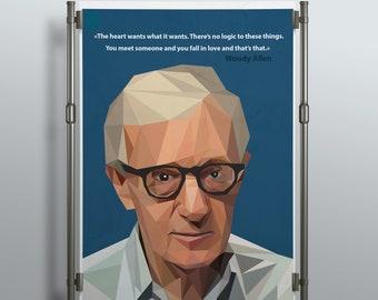 Poster, prints. Woody Allen.
