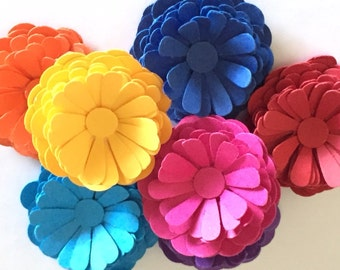 NEW! Small Paper Flowers in (Make Your Own) in the Color(s) of Your Choice ~ Packaging, Wedding, Cards, Invitations