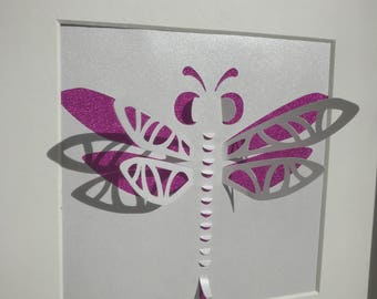 3d dragonfly frame box shadow frame