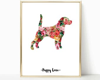 gift for women dog lover gift dog wall art illustration Dog Dog Quote Poster pet quotes Meow decor dog gifts for dogs dog lady