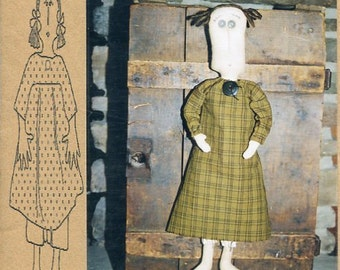 "FREE US SHIP Bless Your Heart Country Crafts 20"" Doll Penelope Primitive Folk Art Uncut New Old Store Stock Sewing Pattern Ragdoll cloth"
