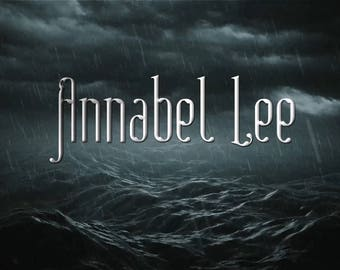 Annabel Lee / Edgar Allan Poe inspired perfume (English roses, Rose stems, Peony, Ocean mist, Lavender, Hyacinth, Seaweed, Fern, Pine)