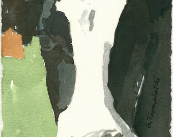 Cow PRINT 8.5 x 11 paper size Cow painting cow art black and white cow original watercolor painting Holstein cow art Cow face