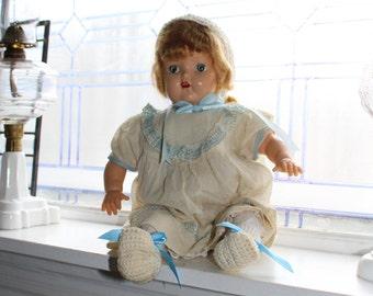 Vintage Doll Sleep Eyes Buck Teeth