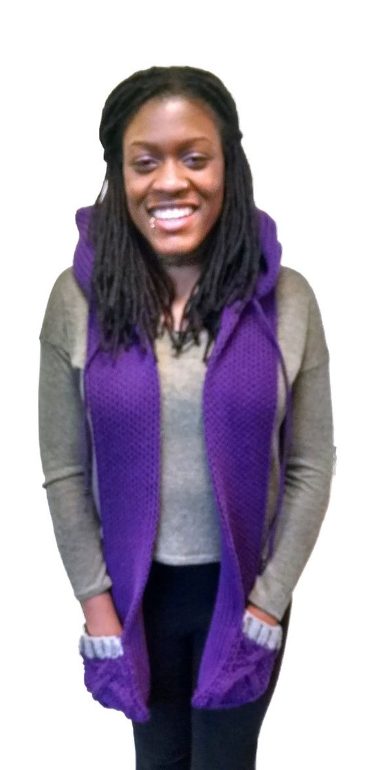 Instant Download Loom Knitting Pattern Easy Scoodie/ Hooded Scarf ...