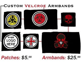 Custom Velcro Military Armbands with swappable patches