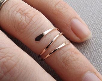 Super Sale! 14k Gold or Rose Fill Knuckle Ring, Knuckle Rings,Mid Rings,Above knuckle ring, Toe Rings, Rings, Rose or Gold Fill Knuckle Ring