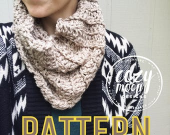 Crochet Pattern // River Birch Cowl / Cowl Pattern / Crochet Cowl Pattern