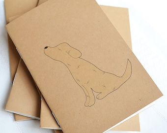 Little Notebooks Kraft Yellow Lab - Set of 2 Dog Pocket Notebooks