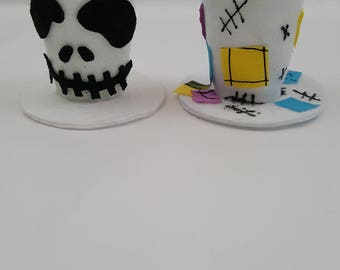 Sally and Jack Tiny Top Hat SET, Nightmare Costume, Costume Accessory, Halloween Costume, Nightmare Before Christmas, Simply Meant to Be