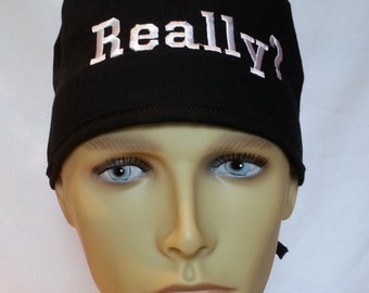 CUSTOM embroidery Pick your color Surgical scrub hat operating room hat  theatre cap sweatband built in