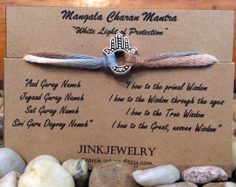 Hamsa bracelet with Mangala Charan Mantra