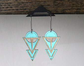 Laser cut earring | COVEN TURQ