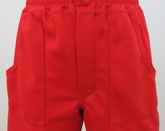 70's High Waist Shorts Red Athletic Shorts SMALL