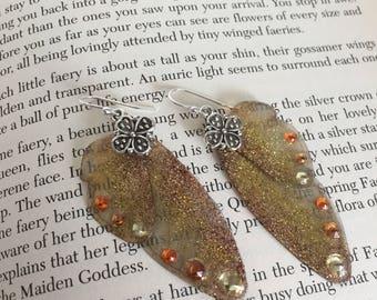 Fairy Flutter Earrings - Autumn Sunshine