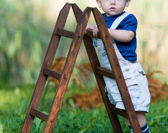 Ladder Photography Props, Toddler, Baby Photographer, Wood Ladder Decor, Hanger, Vintage, Rustic Wooden Home Decoration, COLORS