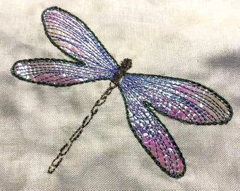 Dragon Fly Applique Machine Embroidery Design. Mylar Embroidery Pattern, 4x4 and 6x6 By Pixie Willow Patterns