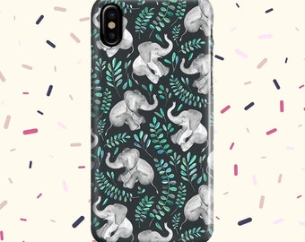 iphone x case Elephants and Leaves iphone 6 case iphone 7 case iphone 8 case iphone 8 plus case samsung s8 case samsung note 8 case
