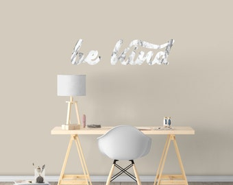 Be Kind Marble - Printed Quote Wall Decals