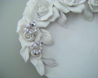 Clear crystal wedding studs , cubic zirconia studs , star studs , bridal earrings , cz studs , circle earrings, eternity earrings