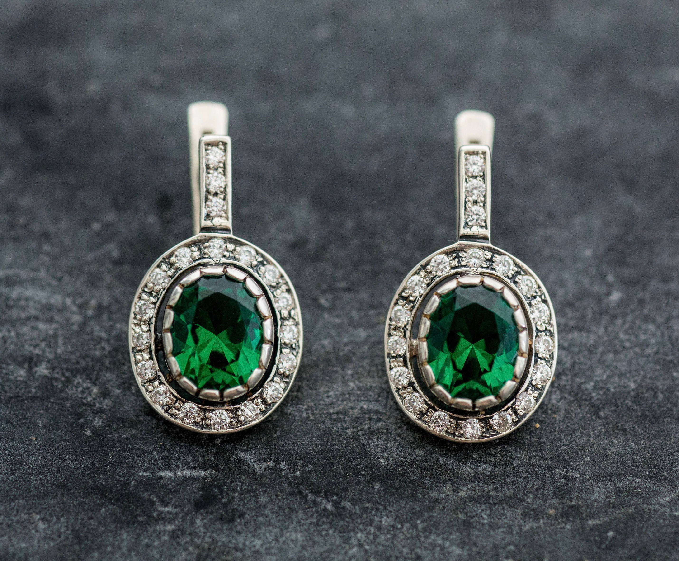 earrings white mirage hueb emerald large moda jewellery diamond by loading gold silver and