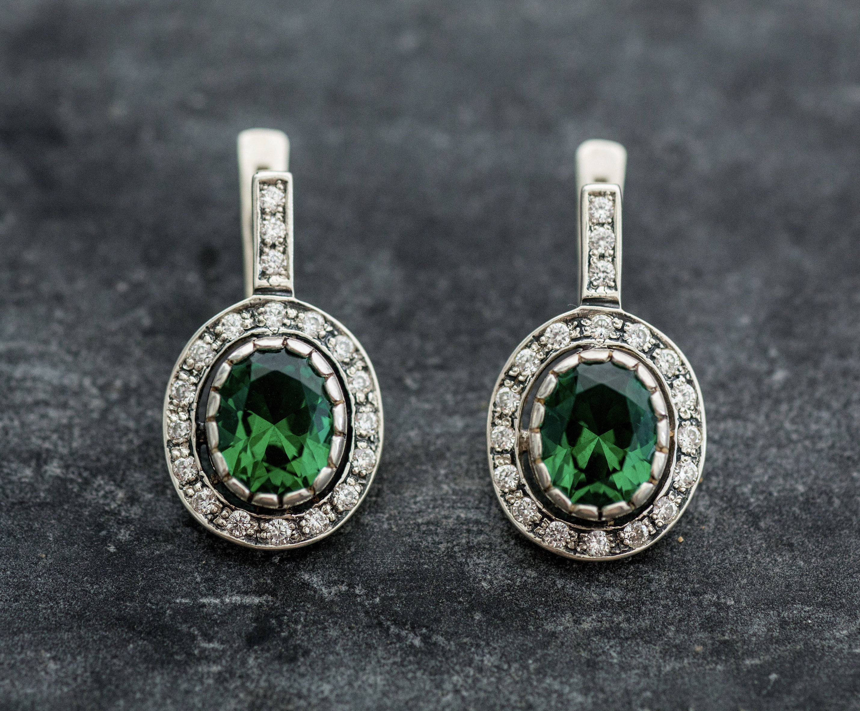 emerald stone earrings claire ear jewellery crawler s