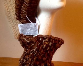 Retro Style handknit handspun slouchy beret cloche hats - VEGAN options
