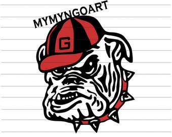 Georgia Bulldogs Svg, Eps, Dxf, Pdf, Png, Jpe for Cricut and Silhouette-Digital Download.