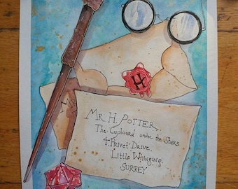 Set of 7 Harry Potter Art Prints