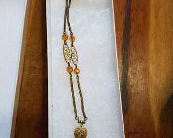 Vintage Madeira Citrine Necklace