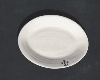 Monogram Oval Platter