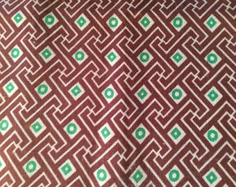 Vintage Cotton Fabric Feedsack Material Abstract Midcentury Sewing