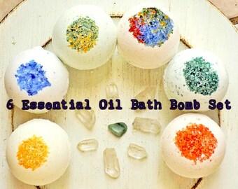 Bath Bomb Gift Set / Bath Bomb set / Essential Oil Bath bomb / aromatherapy gift set / Spa gift set / natural bath bombs / bath fizzies