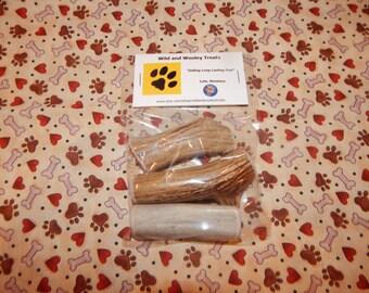 3 Organic Small Deer Antler Dog Chews (Lot D8)