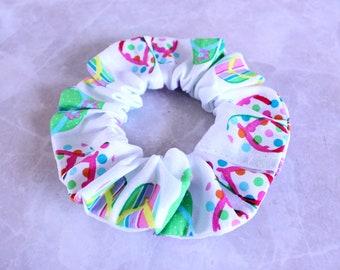 Beachy Flip Flops Hair Scrunchie 100% Cotton