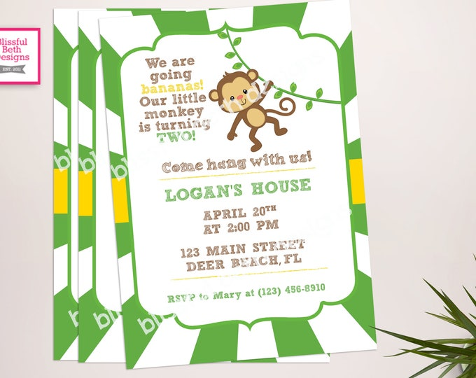 MONKEY BABY SHOWER, Monkey Baby Shower Invitation, Monkey on the Way, Monkey Baby Shower, Monkey Shower Invitation, Monkey Shower, Monkey