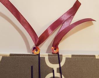 Purple Flower Paper Clip