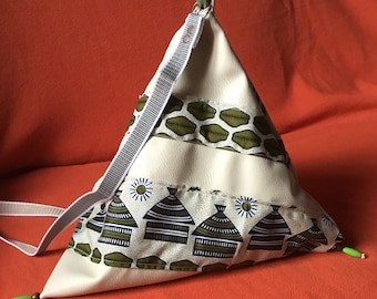 pyramid shaped bag