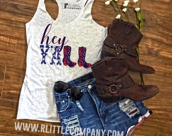Hey Y'all Festival Women's Tank - XS-4XL  // Country Concert // Country Festival // Country Music
