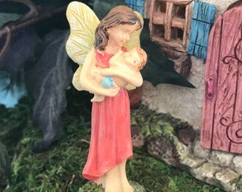 Miniature Fairy Mother and Baby