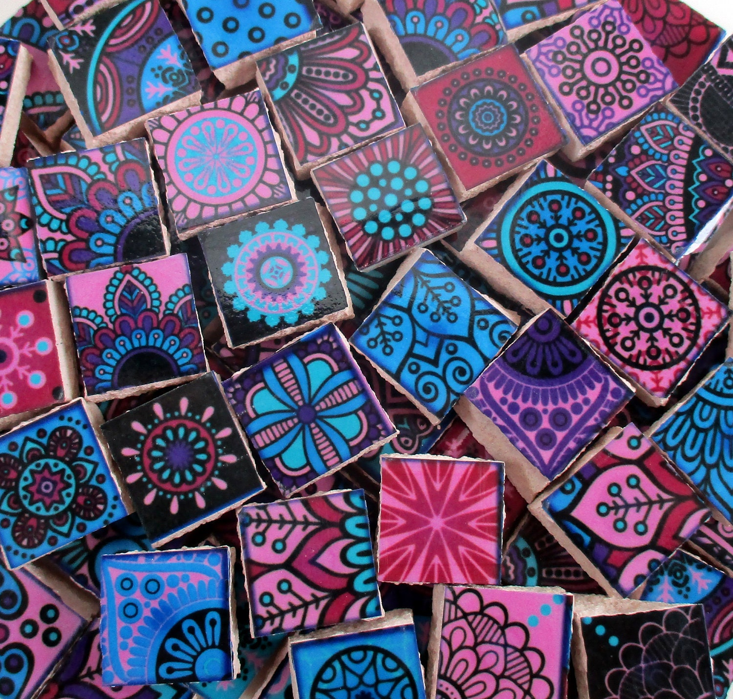Ceramic Mosaic Tiles - Bright Colors Medallions Moroccan Tile Mosaic ...