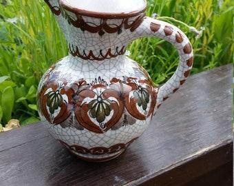 Gmunden Ceramics handmade vase with handle mug potter European vintage