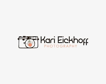 Camera logo. Custom logo. watermark. photographer logo