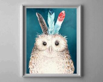 Owl nursery,Baby room Decor,Sweet dreams Nursery,Nursery wall art,Owl Nursery Printable,Nursery Decor,Night stars,Watercolor owl
