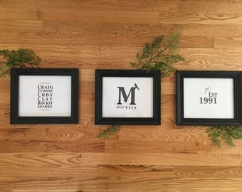 Custom Personalized Family Wall Prints