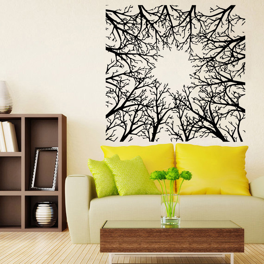Tree Wall Decals Abstract Trees Forest Nature Living Room Wall