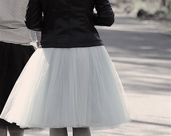 plus size tulle skirt women in handmade black tulle skirt midi tulle skirt knee length tulle skirt adult costumes