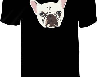 FRENCH BULLDOG Spartacus Shirt Custom Printed Vinyl Press T-Shirt Pre-Order - UNISEX T-Shirt - Frenchie Fans - Unique Pet Lovers T Shirt