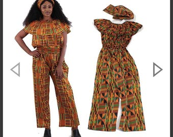 Kente Jumpsuit